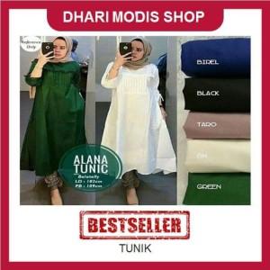 Tunik Kemeja Baju Atasan Tunik Pocket Blouse Jilbab Hijab Blus Muslim Tokopedia