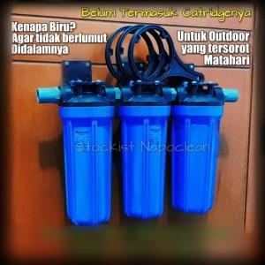 Paket saringan air/water filter 3 Housing Outdoor (Tersorot Matahari)