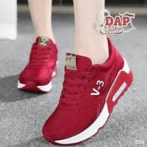 Sepatu Wanita V3 Merah Airmax Sepatu Cewek Olahraga Sport Jogging Lari Senam Tokopedia