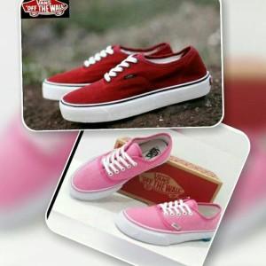 Jual Sepatu Vans Couple Cewek Cowok Murah Keren Pink Merah Lari Hadiah Kado 8b92983ce8