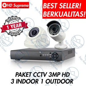 Cctv Paket 4 Channel 1 3 Kamera Mix Tokopedia