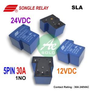 Relay PCB Songle 30A 12V 24V Relay Kodok 12V 24V Songle 30A 5PIN 6PIN