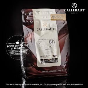 Cokelat Couverture Callebaut Dark Callets Chocolate Import 54,5% 2,5kg