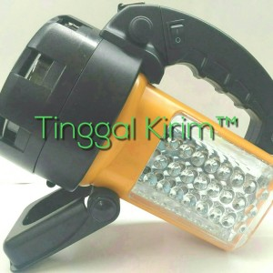SENTER HALOGEN SPOTLIGHT 6V 55W + 24 SUPER BRIGHT LED