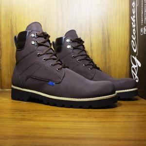 Sepatu Boots Pria Kickers Safety Hitam Tokopedia