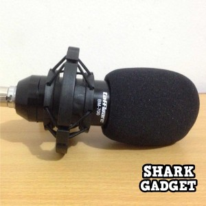 Microphone External Condenser Studio For Hp Laptop Pc Komputer Mic Kabel Smule Plus Busa Mic Tokopedia