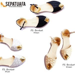 Sepatu Flat Wanita Brukat Tokopedia