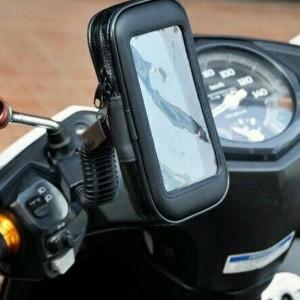 Holder Anti Hujan Copet Untuk Smartphone Handphone Di Motor U Smartphone Ukuran Sampai 5 5 Tokopedia