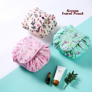 Diskon Korean Travel Pouch Tas Kosmetik Model Serut Tokopedia