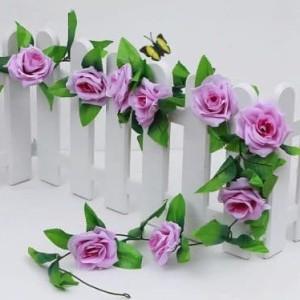 Bunga Mawar Rambat Ungu Artificial - Tanaman Hias Dekorasi