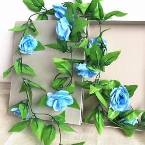 ... Bunga Mawar Rambat Biru Artificial Tanaman Hias Dekorasi