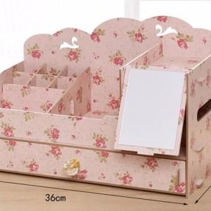 Rak Kosmetik Besar Kaca Desktop Cosmetik Box Kode 050 Tokopedia