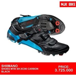 Shimano Shoes Mtb Xc90le Carbon Wide 43 Tokopedia