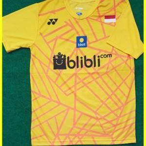 Baju Jersey Badminton Y137 Model Terbaru Warna Kuning Dan Biru Tokopedia