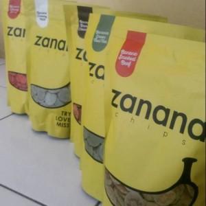 Jual Promo Paket 5 pcs Zanana Chips 200gr Zanana Chips Keripik Pisang Krip