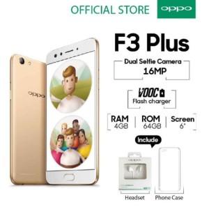 Hp Oppo F3 Plus Garansi Resmi Oppo Indonesia Tokopedia