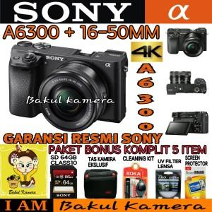 Sony Alpha 6300 Kit 16 50 Alpha 6300 Sony A6300 Tokopedia