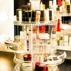 Rak Kosmetik Putar Acrylic Organizer Cosmetic Display Acrylic Tokopedia