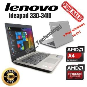 Lenovo Ideapad 330 34id With7th Generation Amd A4 9125 Apu Tokopedia