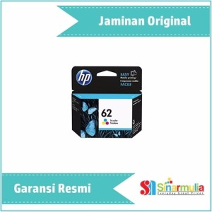 Hp 62 Tricolor Ink Catridge C2po6aa Original Tokopedia