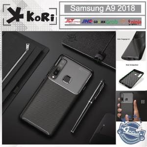 Case Samsung A9 2018 KoRi Premium Autofocus Carbon Slim Casing Cover