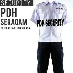 Baju Pdh Satpam Setelan Security Pdh Putih Tokopedia