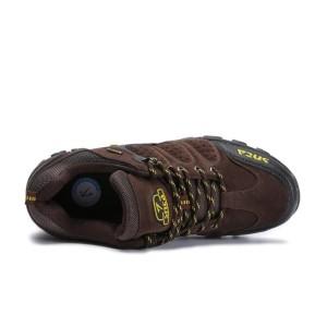 Sepatu Gunung Semi Boot Snta 432 Warna Abu Merah Sepatu Hiking Pria Tokopedia