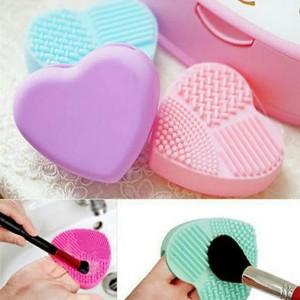 Promo Heart Brush Makeup Pad Cleaner Holder Pengering Kuas Kosmetik Tokopedia