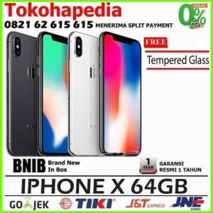 New Iphone X 64gb 64 Gb Silver N Black Space Grey Tokopedia