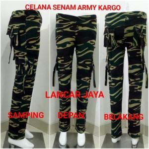 Celana Kargo Aerobic Senam Army Bawah Lutut Tokopedia