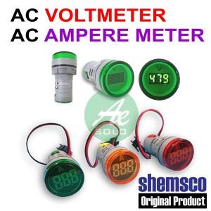 AC Voltmeter AC Ampere Meter Digital Shemsco 100A 500V Diameter 22mm