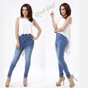 Celana Jeans Cewe Punny Highwaist White Tokopedia