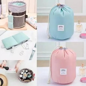 Hot Tas Kosmetik Serbaguna Tas Kosmetik Travel Rose Pink Tokopedia