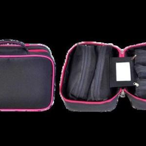 Cbb Cosmetic Brush Bag Tempat Kosmetik Dengan 5 Pouch Dengan Cermin Tokopedia