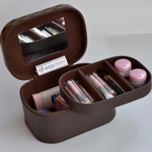 Makeup Pouch Tempat Kosmetik Cantik Motif Lv Mono Beatycase Tokopedia