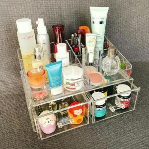 Hot Acrylic Tempat Make Up Kosmetik Type F Mini Tokopedia