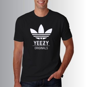 Jual Kaos T Shirt Warna Hitam adidas yeezy logo Z7319