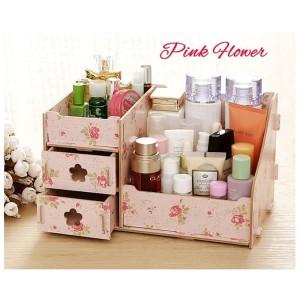 Diskon Pink Flower Rak Kosmetik Mini Cosmetic Storage Mini Rkm25 Tokopedia