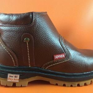 Sepatu Safety Boyken Resleting Kulit Asli Berkualitas Harga Terjangkau Tokopedia