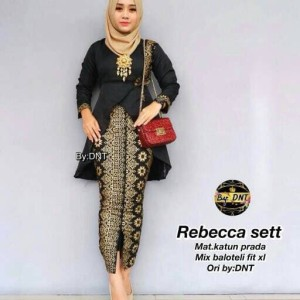 Jual Rebecca Set   Setelan Kebaya Batik Prada   Seragaman Nikahan K d1d1425faa