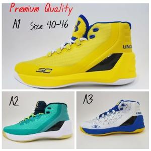 Sepatu Basket Under Armour Curry 3 High Putih Navy Tokopedia