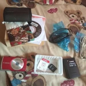 Camera Pocket Powershoot Canon A2500 Merah Fullset Bonus Case Tokopedia