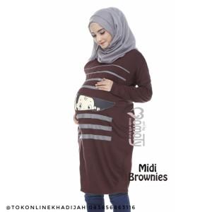 Midi Dress Hamil Unik Baby Peeking 2 Momoty Tokopedia