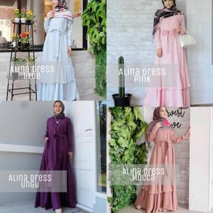 Dress Wanita Baju Dress Pink Dress Pesta Tokopedia