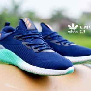 Jual Sepatu Sneakers Pria Adidas Alphabounce 2 Navy Sol Tosca Putih Import
