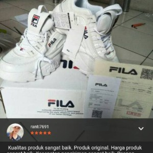 Jual Sepatu Fila White Ladies Sneakers Fashion Cewek Cewe Sport Putih Women e46e1c2045