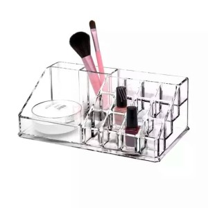 Tempat Rak Kosmetik Perhiasan Akrilik Putar Makeup Organizer Tokopedia