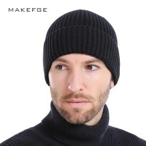 Versi Korea Dari Topi Wol Pria Musim Dingin Plus Beludru Empuk Topi ... e2ff8e1d02