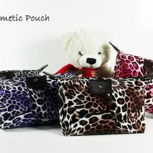 Leopard Pouch Tas Kosmetik Bag Make Up Body Lotion Aksesoris Tokopedia