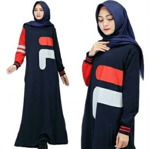 Baju Muslim Dress Fila Maxi Tokopedia